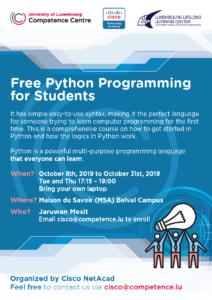Cisco NetAcad Python Programming @ CompetenceCentre