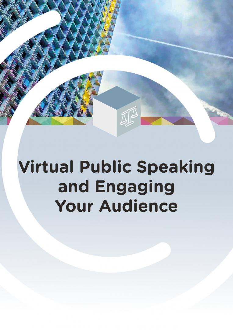 Virtual public speaking and engaging your audience